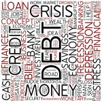 foinancial word cloud showing debt as the prominent word